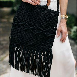 DANIELLE NICOLE Macramé Handbag RETAILS $100.00